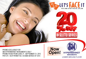 20% Off Promo on Selected Services Exclusive for SM Hypermarket Monumento
